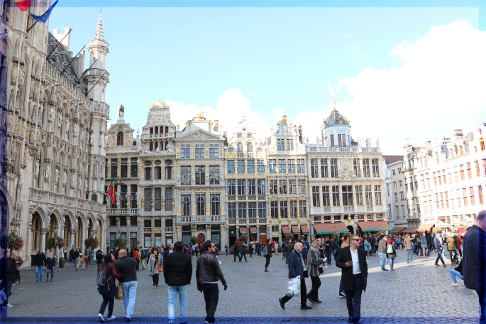 The Grand Palace at Brussels Belgium